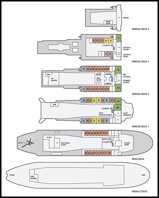 Deck Plan, 50 Years of Victory, Polar Ship