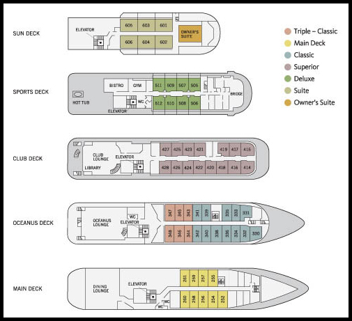 Deck Plan, Sea Spirit, Arctic adventure cruise