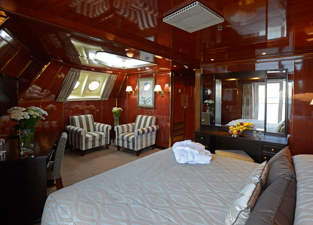 Corner Suite, Caledonian Sky, Sea of Okhotsk ship