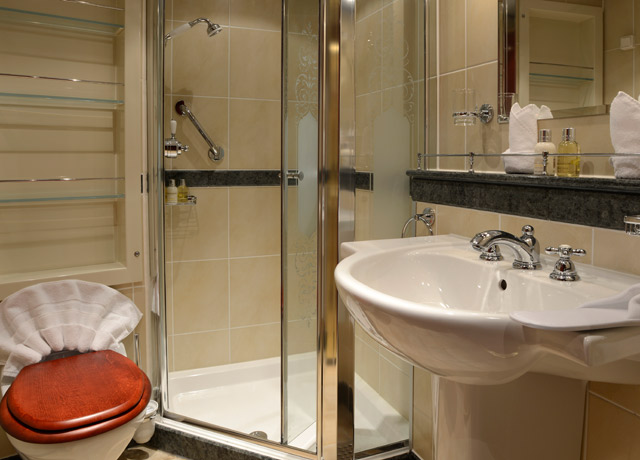 Bathroom, Caledonian Sky, Expedition Cruise Ship
