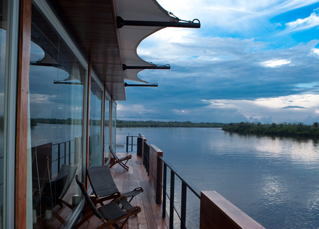 Outside deck, Aria, Amazon tour