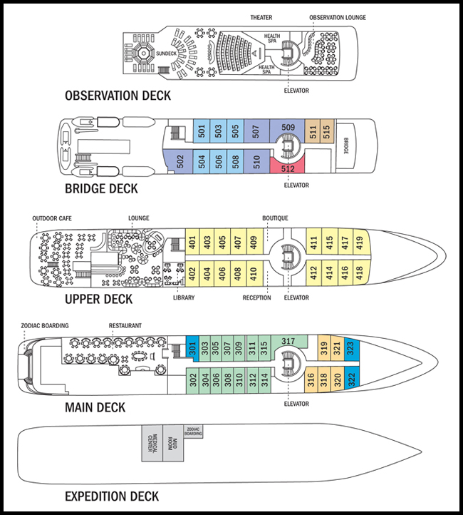 Deck Plan, National Geographic Orion, Antarctic Vessel