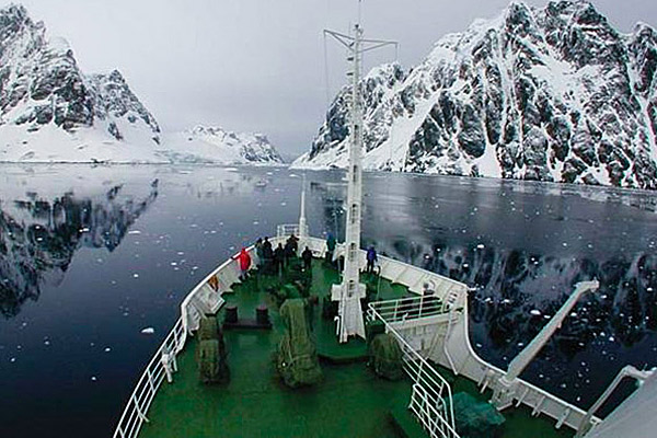 View from deck, Akademik Ioffe, High Arctic