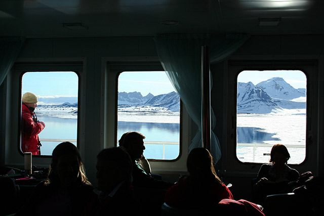 View from the bar, Akademik Sergey Vavilov, Antarctica