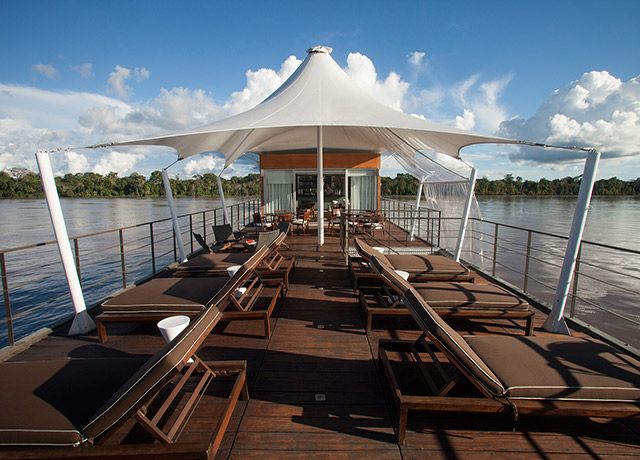 Deck, Aqua, Amazon River adventure cruises
