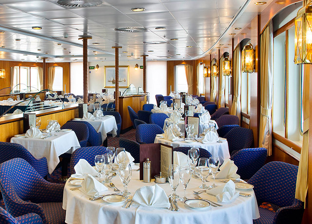 Dining Room, Sea Adventurer, Cruise Ships in Antarctica