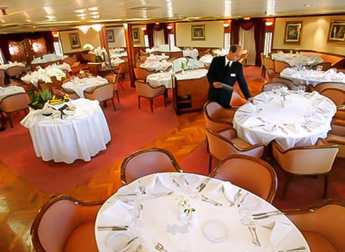 Restaurant, Sea Explorer, Greenland ships