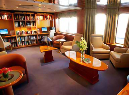 Library, Sea Explorer, Greeland adventure cruises