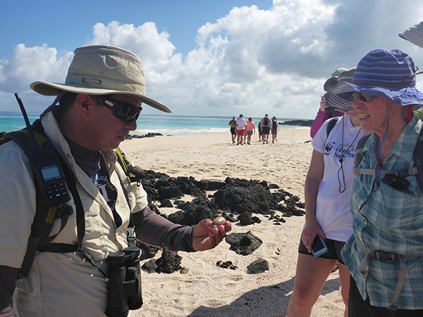 Guide teaching in the Galapagos.