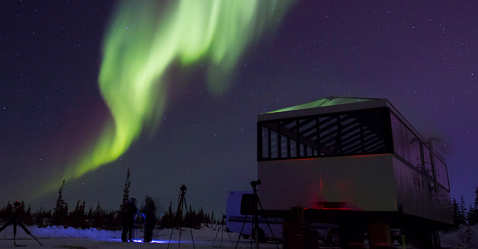 Natural Habitat's new Aurora Pod, Churchill, Manitoba, Canada