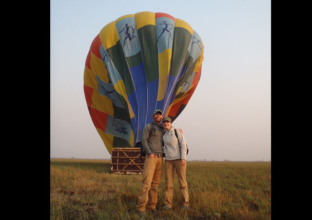 Hot air ballooning in Kafue, and the champagne bush brunch after, was a highlight of my trip to Zambia.