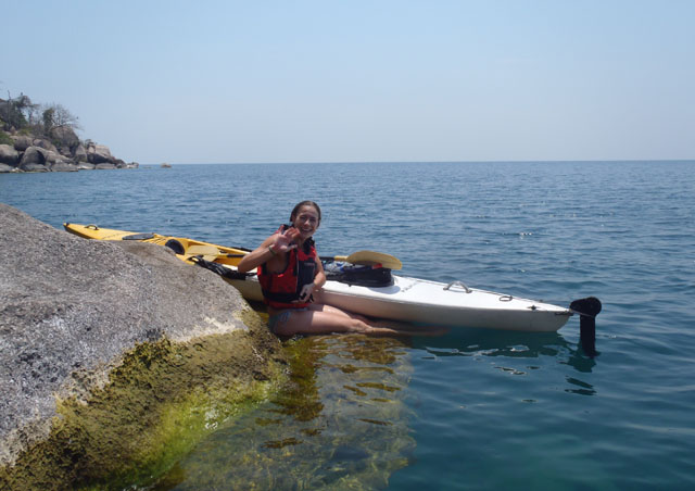 Kayaks are the perfect mode of transport on Lake Malawi from one great snorkel spot to another – and a welcome way to relax before or after safari.