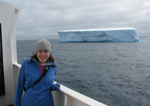 Iceberg off the port side and we're steaming south.  My first glimpse of a massive iceberg in the Antarctic Ocean!