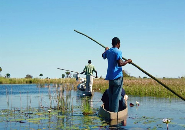 No visit to Botswana's famous Okavango Delta is complete without a fun mokoro (traditional dugout canoe) excursion.