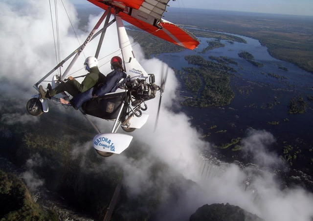 Victoria Falls is pretty impressive all on its own, especially after the rainy season, but viewing it from a microlight flight really kicks it up a notch!