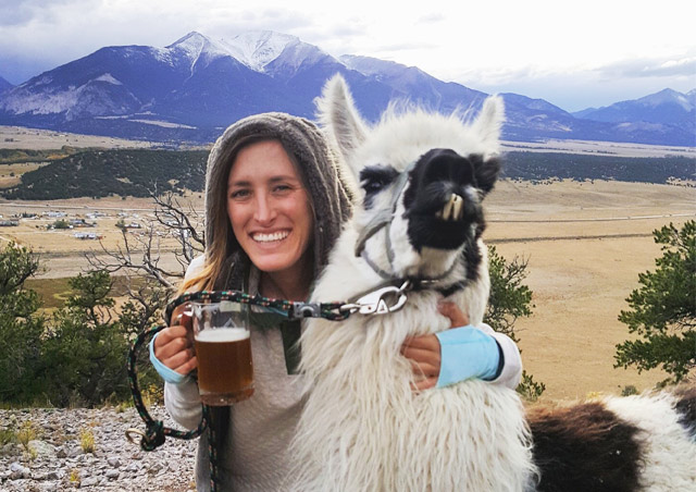 My first Nat Hab outing – FallFest 2017… Llama and a beer? Sign me up!