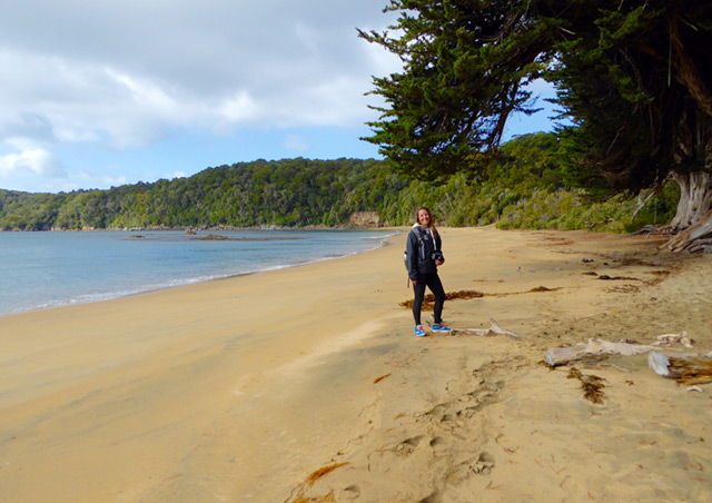 Walking along Sydney Cove on Ulva Island, located just off Stewart Island, New Zealand. The last stop to Antarctica!