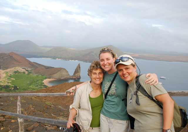 There's nothing like sharing travel experiences with good friends. Tracey, Katie and I had fun giggling in our cabin aboard the Letty while touring the Galapagos Islands.