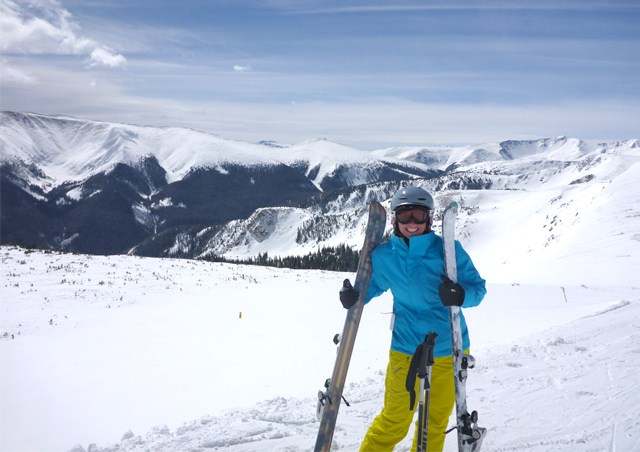 When you live in Colorado, every day can be an adventure! A bluebird powder day, The Cirque, Winter Park