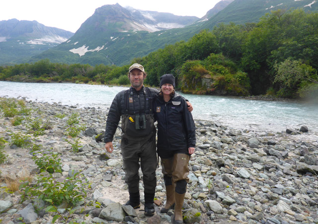 With guide Brad Josephs in Katmai National Park, Alaska