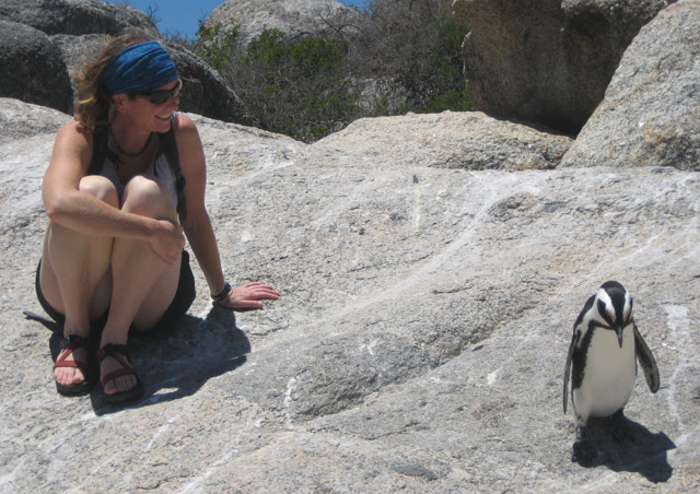 Chillin' with the penguins at Boulders Beach, South Africa