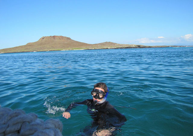 One of our daily snorkeling excursions. We saw hammerhead sharks, white-tipped reef sharks, Galapagos sharks, penguins, a huge school of mobula rays, sea turtles, a giant manta ray and oodles of sea lions, just to name a few. It's incredible to see what's under the water in this place.