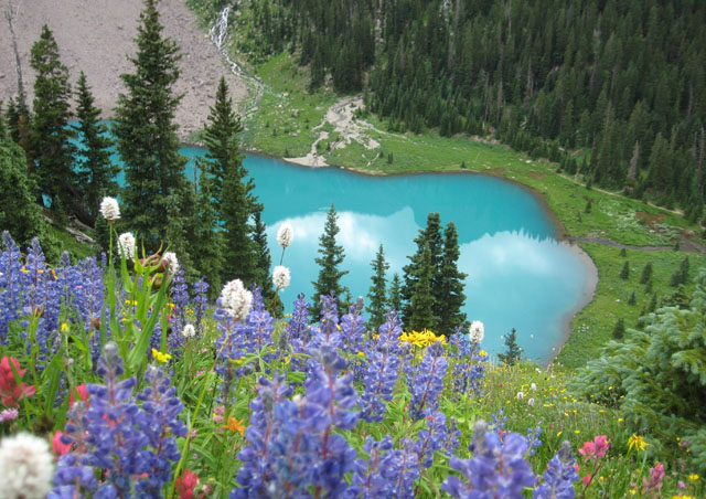 Lower Blue Lake, near Ouray, Colorado