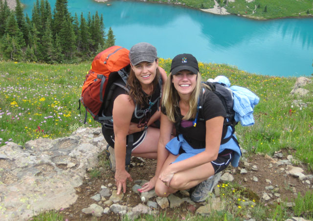 Blue Lakes, near Ouray, Colorado with, Haley, one of my dear friends from high school.