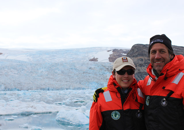 Ben and his 15 year old son, Finlay,  in search of the best location to place Base Camp Greenland.