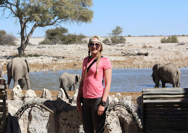 This was my first time seeing a herd of wild African elephants! Africa has a special place in my heart and I am always daydreaming about my next trip. (Location: Etosha National Park, Namibia)