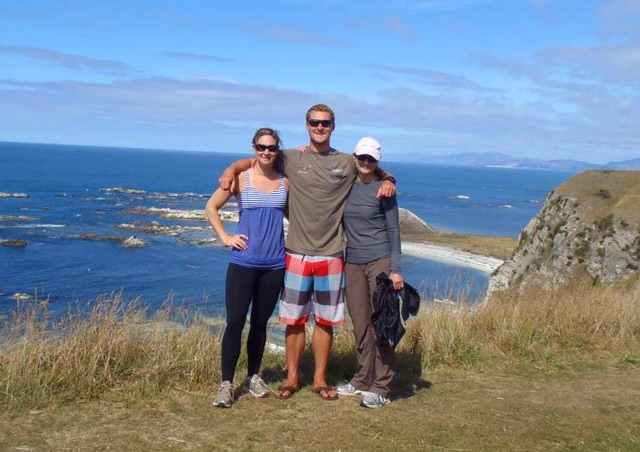 Exploring Kaikoura, New Zealand with mom and sister