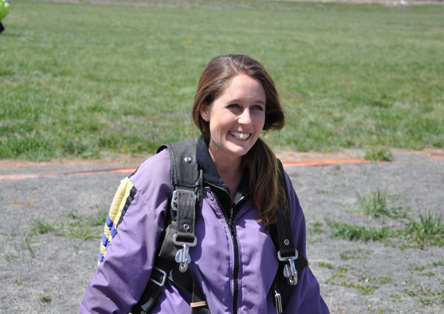 Moments after I hit the ground from skydiving—completely breathtaking.