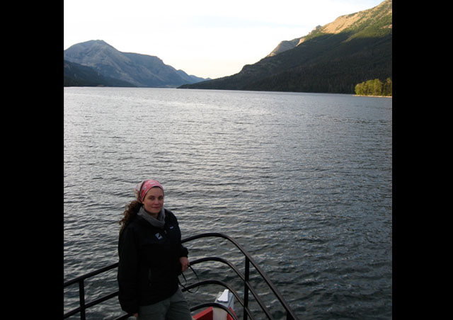 Cruising Waterton Lakes last July: Waterton Lakes, in Canada, is a sister park to Glacier National Park, in Montana.  In 1932 they were united as the first-ever international peace park.