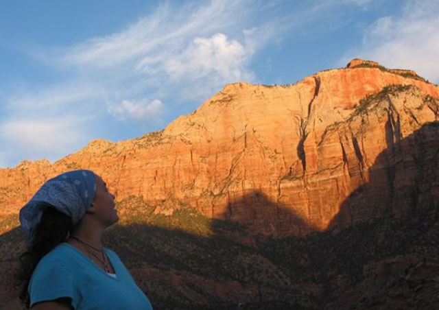 Sunrise in Zion: I love the colors of the American Southwest, especially at sunrise and sunset.