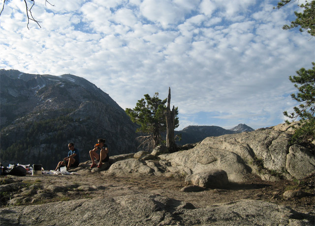 One of Conor's favorite campsites in the Sierra Nevada in California.