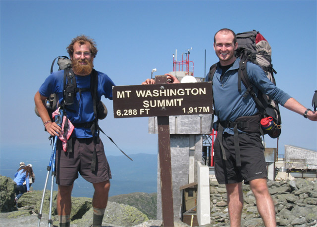 Conor joined his buddy Adam (left) for the New Hampshire section of the Appalachian Trail, which Adam was thru-hiking. They averaged about 15 miles a day over some of the most rugged terrain in the US.