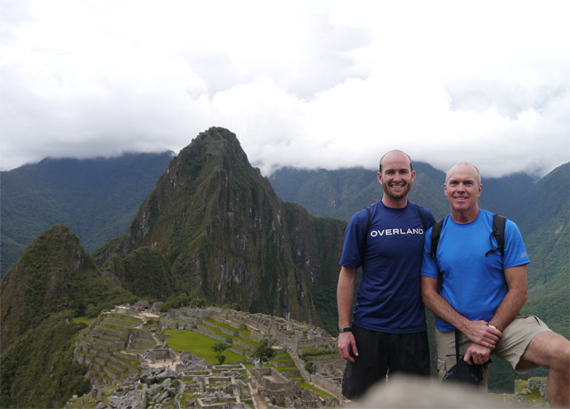 Enjoying my first trip to Machu Picchu with my dad in November of 2012.