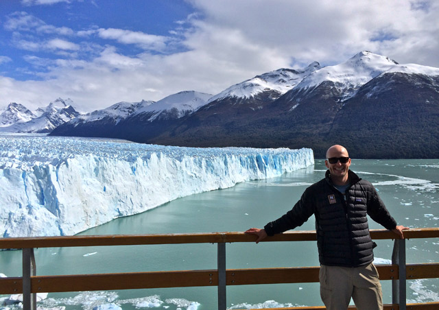 Standing in front of Argentina's Perito Moreno glacier in September 2014.