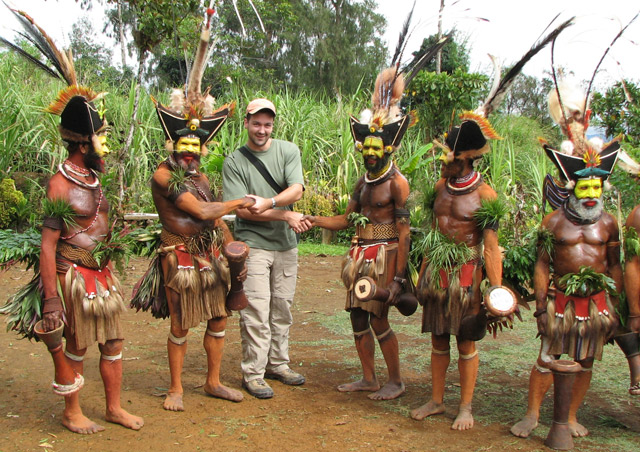 It always is nice to set up good relations with the intriguing Huli people of Papua New Guinea