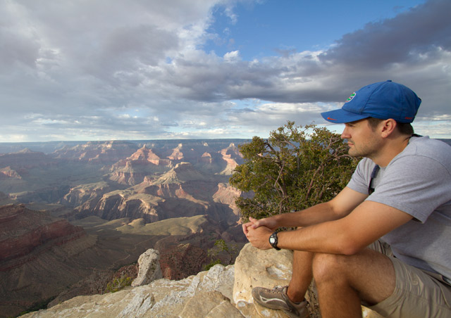 It's always nice to slow down a bit and soak in the views of the South Kaibab Trail of the Grand Canyon
