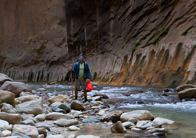 An adventurous but WELL rewarding hike through the narrows of Zion National Park, Utah