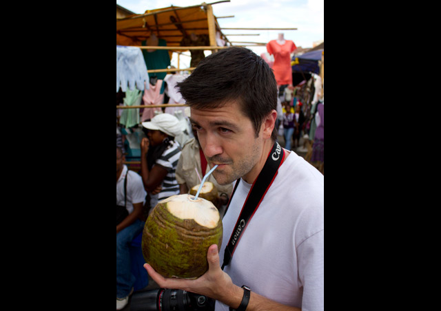 Certainly one of my favorite drinks after a long international flight – fresh coconut water!