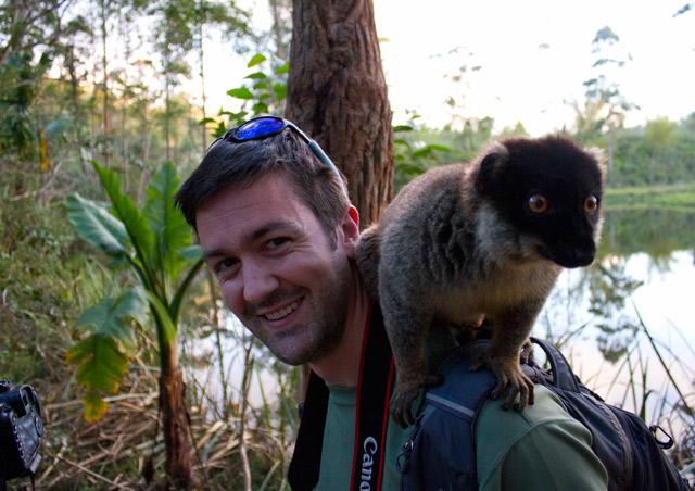 Much like the Galapagos, the animals of Madagascar have virtually no fear of humans.  Wild lemurs don't really have much regard for personal space!