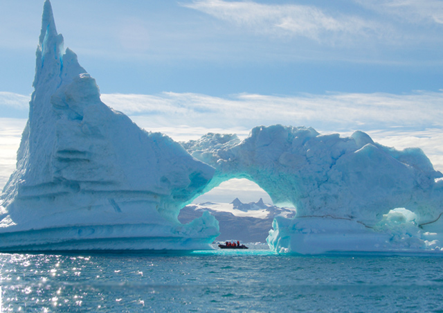 This was one of the coolest icebergs I saw on my trip to Greenland.