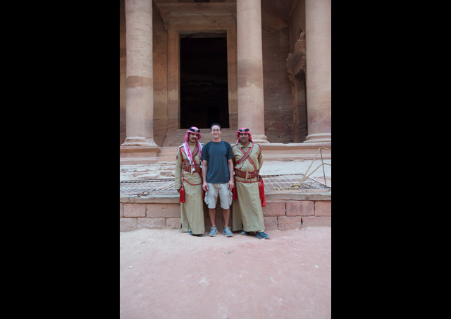 Here I am closely guarding The Treasury in Petra.