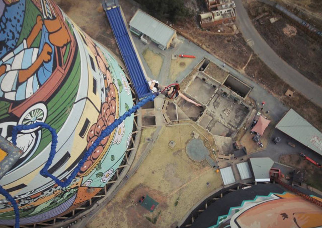 Bungee Jumping Orlando Towers in Soweto, South Africa