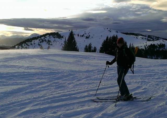 Backcountry skiing near Vail, Colorado