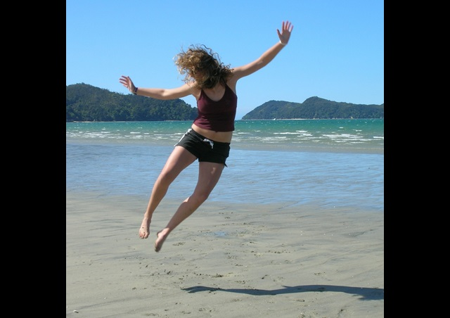 At Abel Tasman National Park, while studying abroad in New Zealand