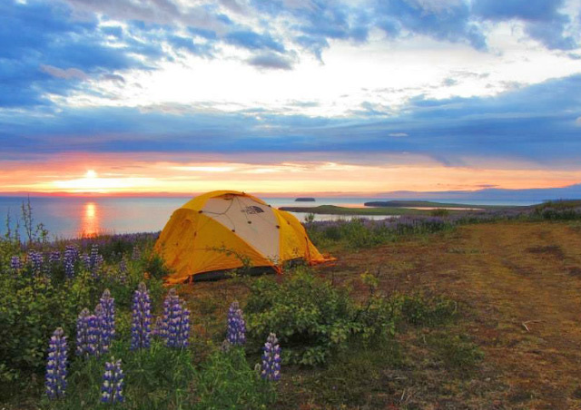 One of my favorite campsites to date, right outside of Husavik, Iceland.
