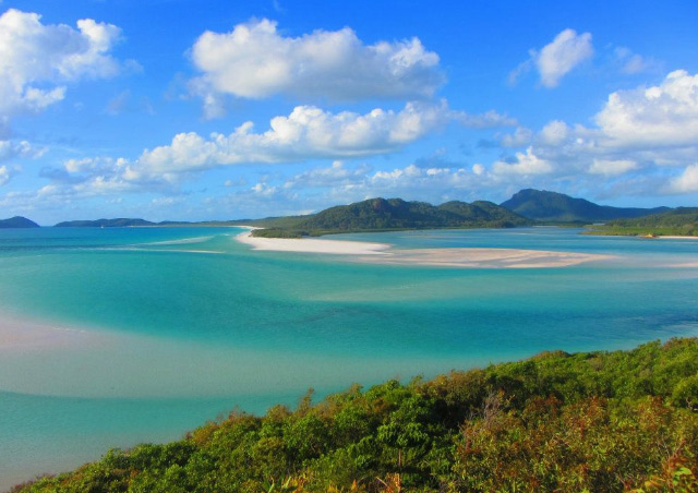 Hiking around Whitehaven Beach on one of our stops while sailing around the Whitsunday Islands in Australia.